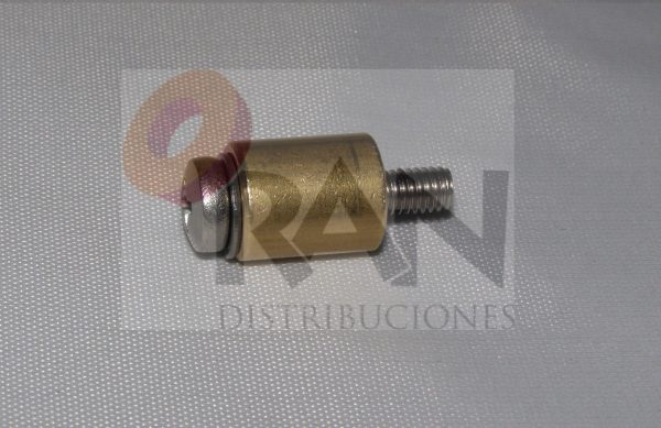 Casquillo 12 mm, con arandela y tornillo métrica 4×20