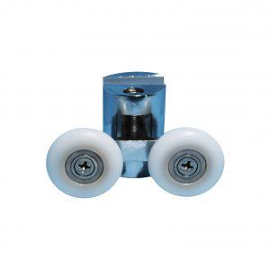 Pinza metálica cromada doble rodamiento 25 mm bolas