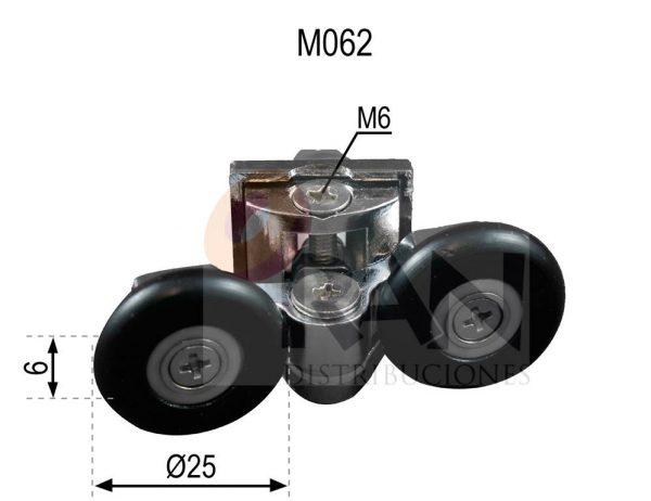 Pinza metálica cromada doble rodamiento cogida tuerca 25 mm bola