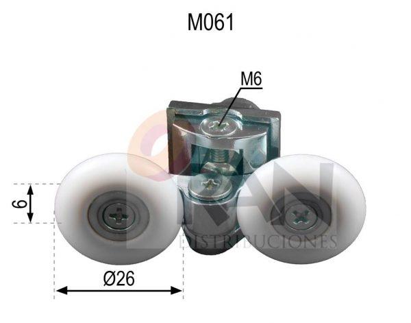 Pinza metálica cromada doble rodamiento cogida tuerca 26 mm bola