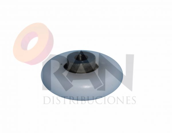 Rodamiento bolas pista convexa 25 mm paso rosca 4 cuello largo grueso 6 mm