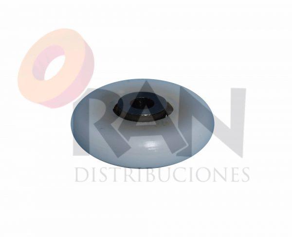 Rodamiento bolas pista convexa 25 mm paso rosca 4, grueso 6 mm