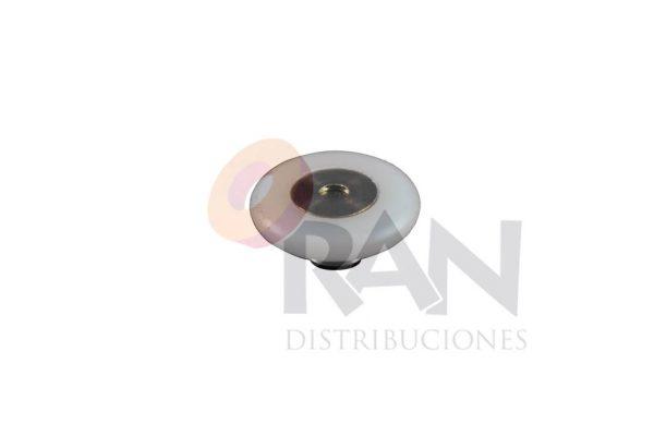 Rodamiento frontal 20 mm Triana nylon, con tornillo métrica 4×8