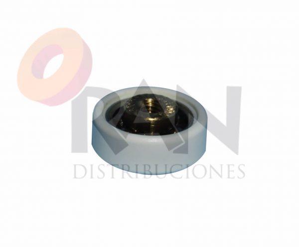 Rodamiento pista lisa 19 mm bolas sin rosca interior, grosor 6,8 mm