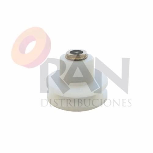 Rodamiento semicircular 25 mm nylon struperfil con tornillo métrica 5×10