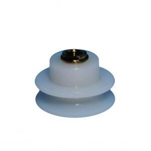 Semicircular cuello corto Madubán 25 mm nylon con tornillo métrica 5X8
