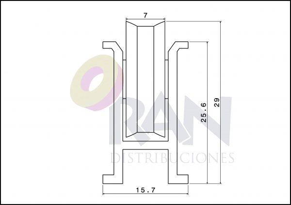 Serie Aluprón 21/640 aluminio fija